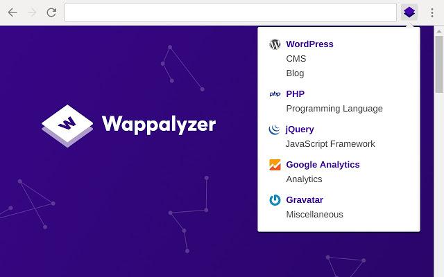 Wappalyzer Chrome拡張機能