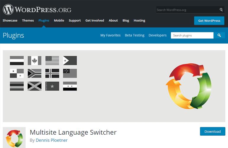 Multisite Language Switcher