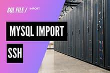 SSH接続で容量の大きいMySQLデータをインポートする方法