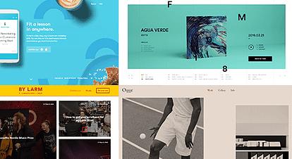 色にこだわったデザインが美しい海外のホームページ