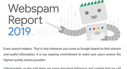 Googleのウェブスパムへの2019年の取り組み
