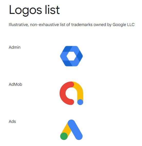Google Logolist