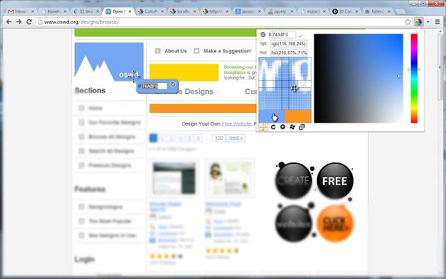 ColorPick Eyedropper Chrome拡張機能