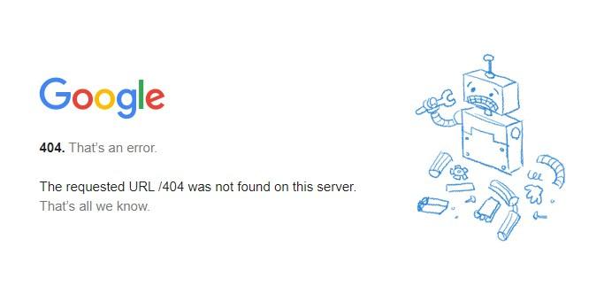 Google 404page