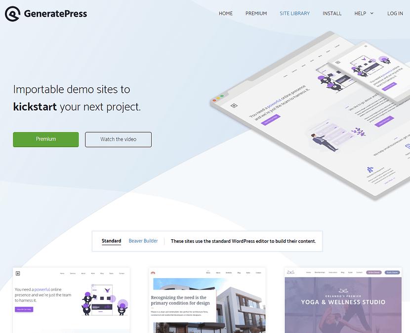 GeneratePress WordPress無料テンプレート