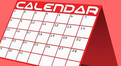 月の予定をgoogleカレンダーで ホームページ ( ウェブサイト )に張り付ける事が出来ます。