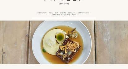 飲食店のデザインが優れたホームページ