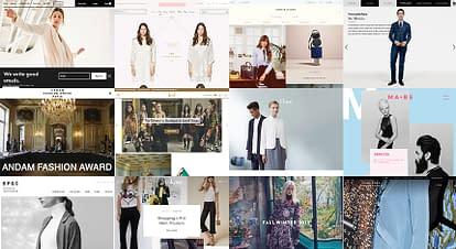 海外のアパレル関係のホームページデザイン