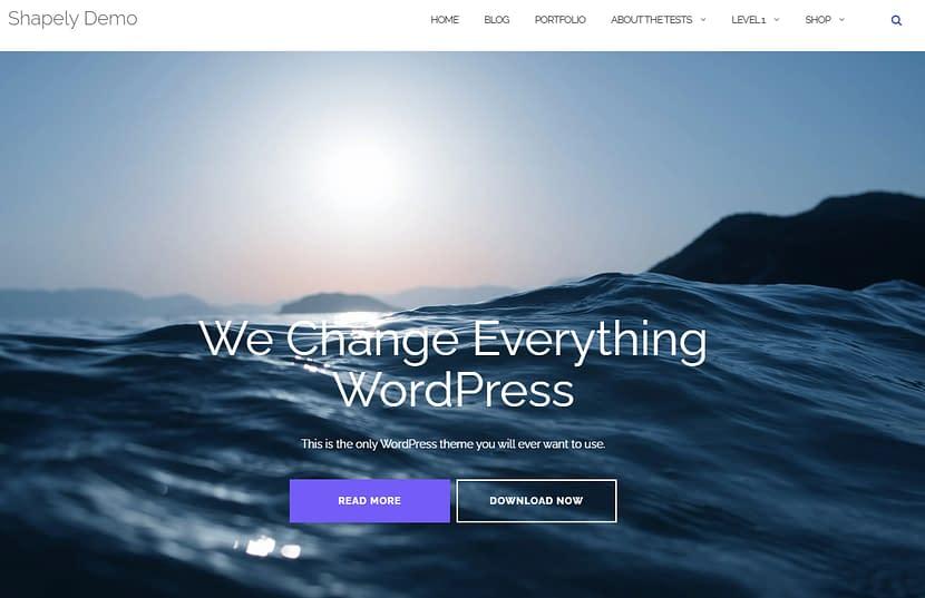 Shapely WordPress無料テンプレート