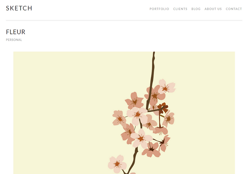 Sketch WordPress無料テンプレート
