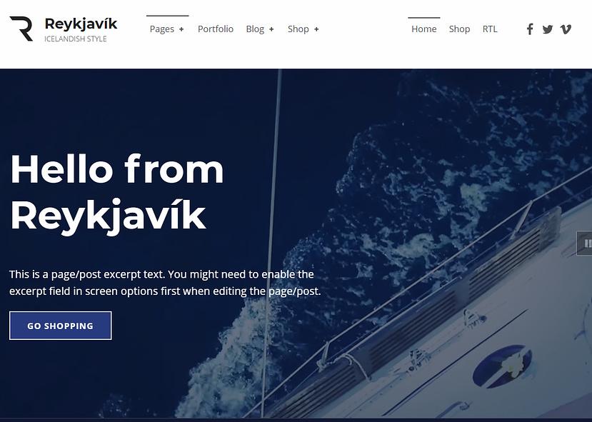 Reykjavik WordPress無料テンプレート