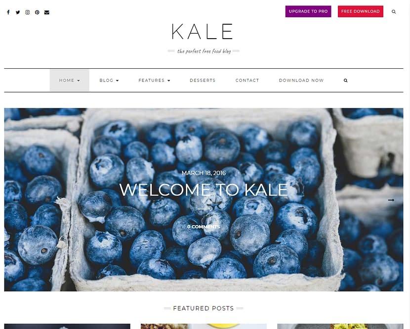 Kale WordPress無料テンプレート